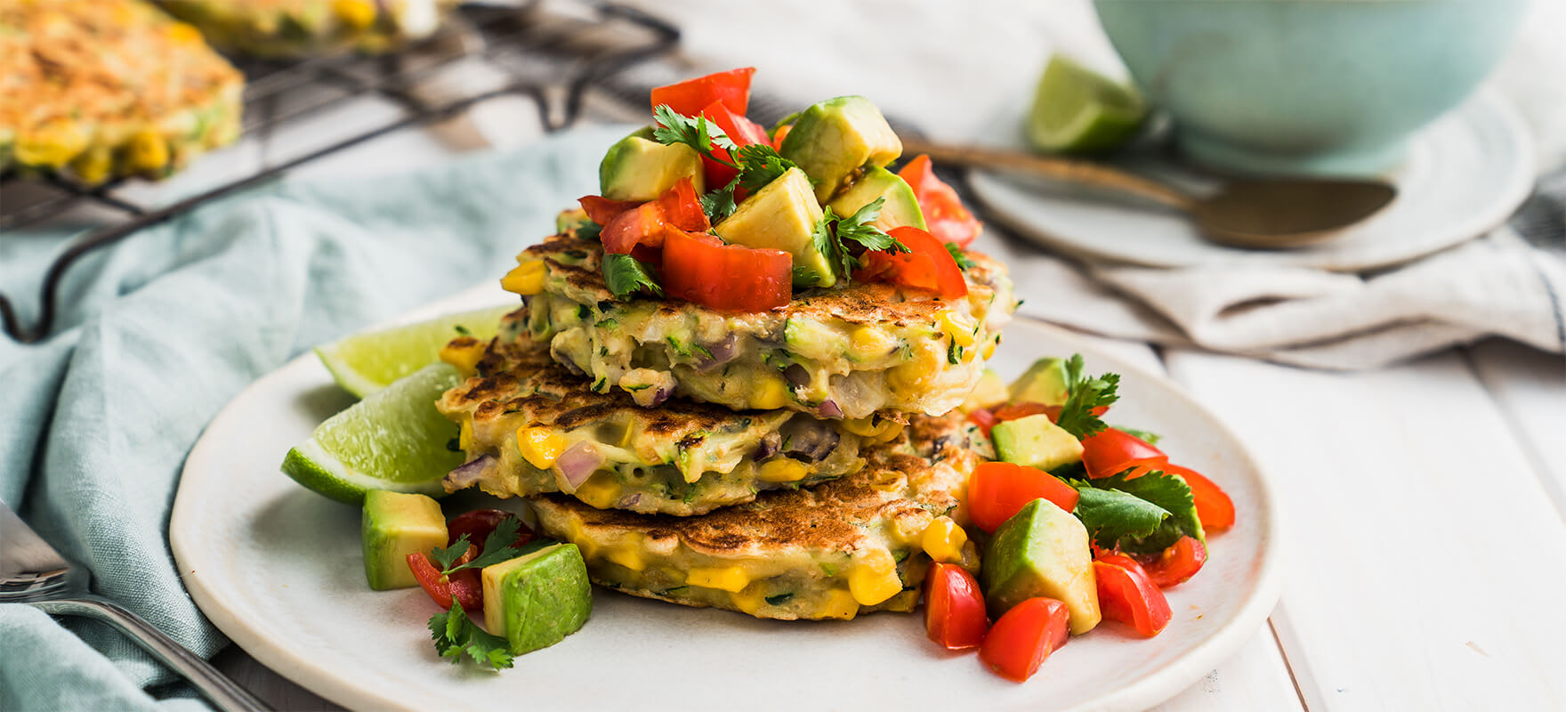 Corn & courgette fritters image 1
