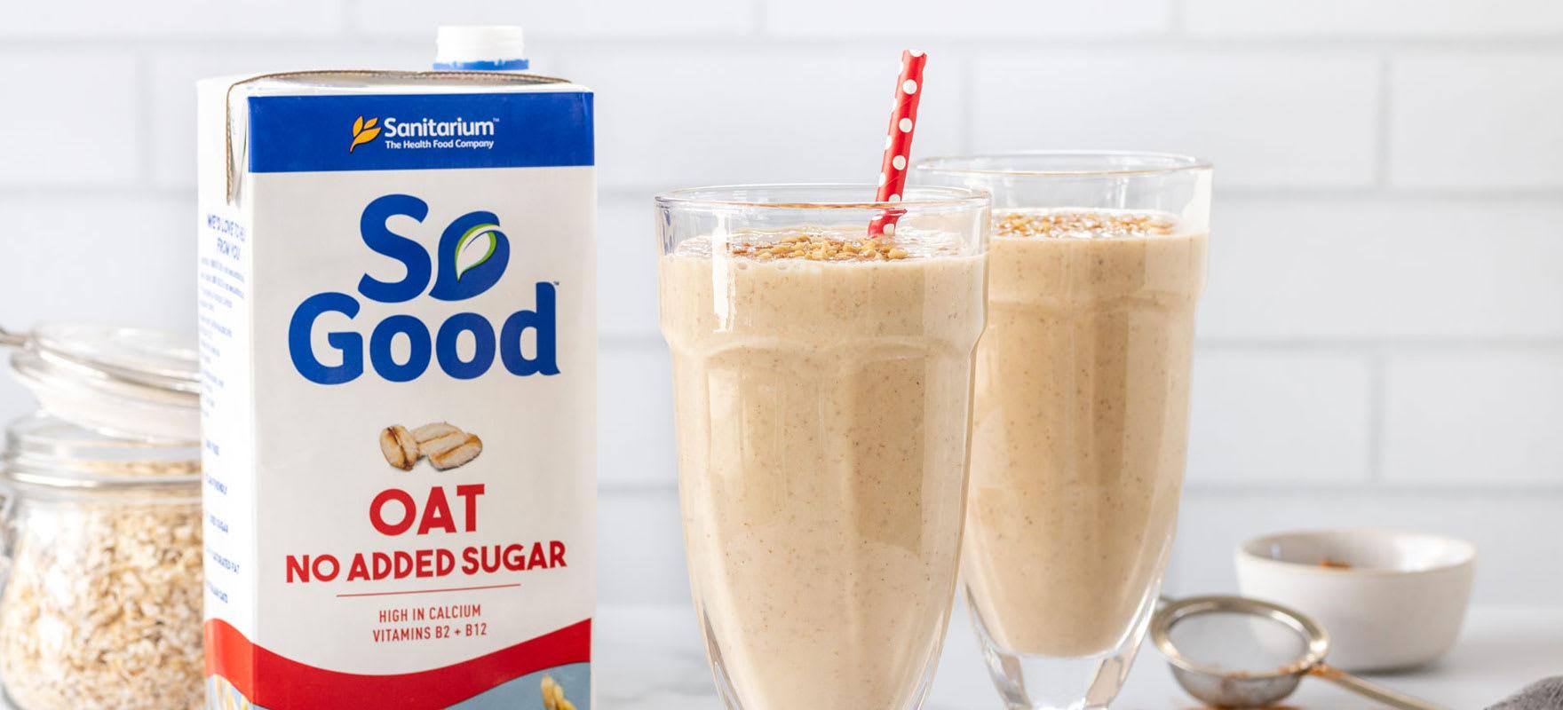 Peanut butter banana milkshake image 1