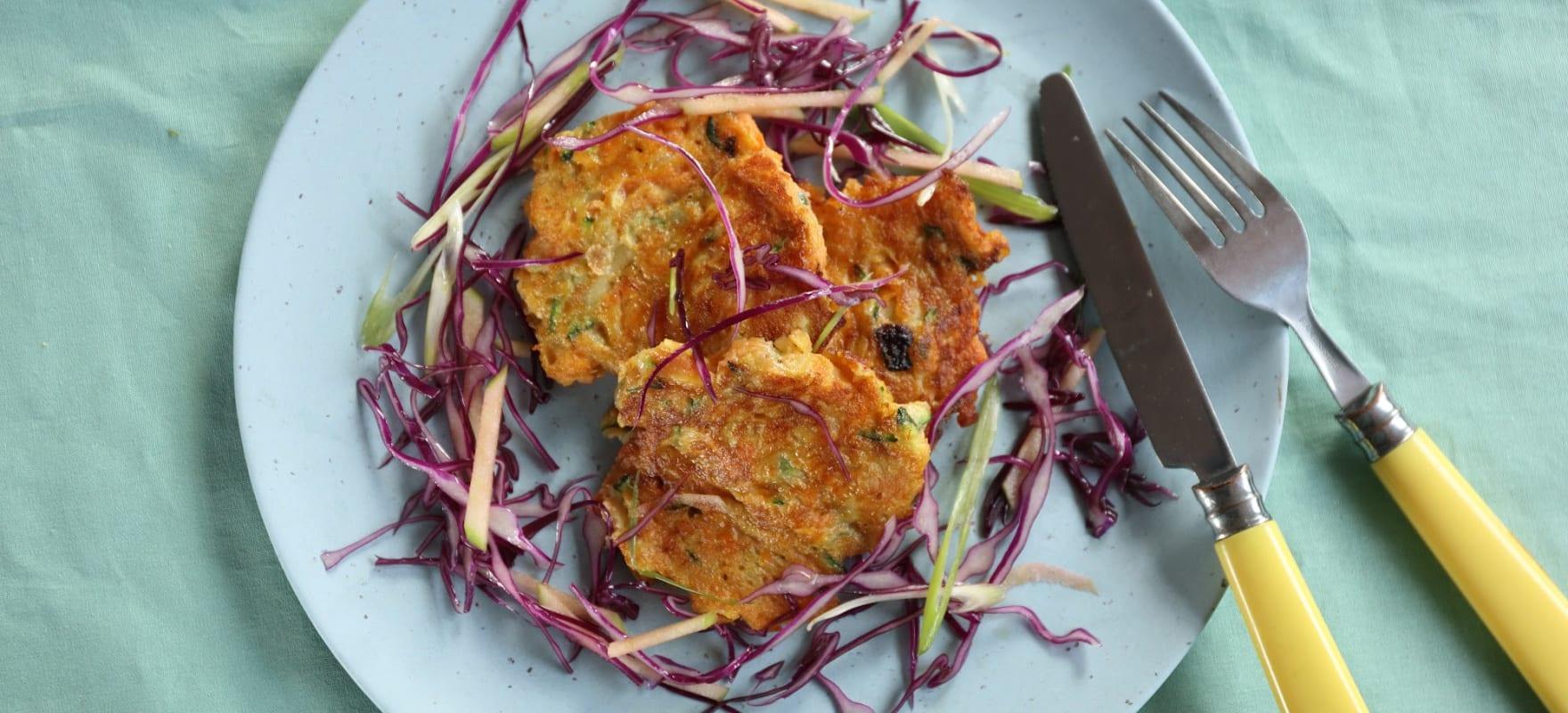 Sweet potato and zucchini fritters image 2
