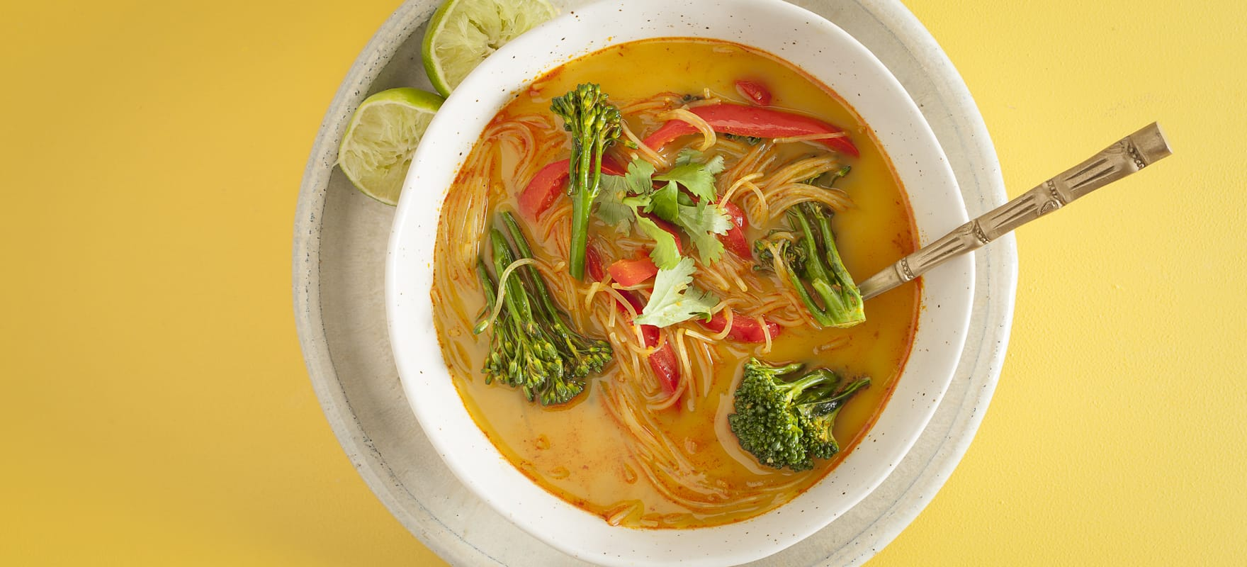 Yellow Thai curry noodle bowls image 1