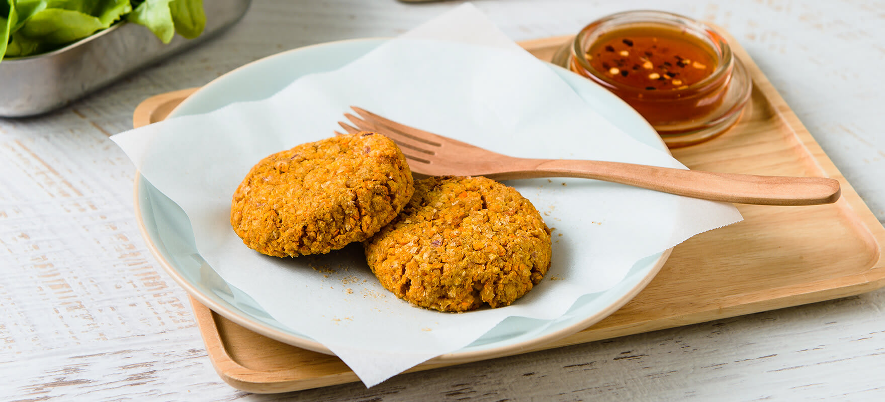 Baked carrot & chickpea patties image 1