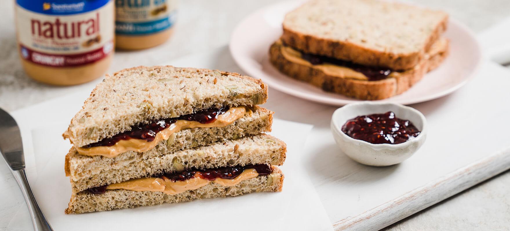 Peanut butter & jam sandwich image 1