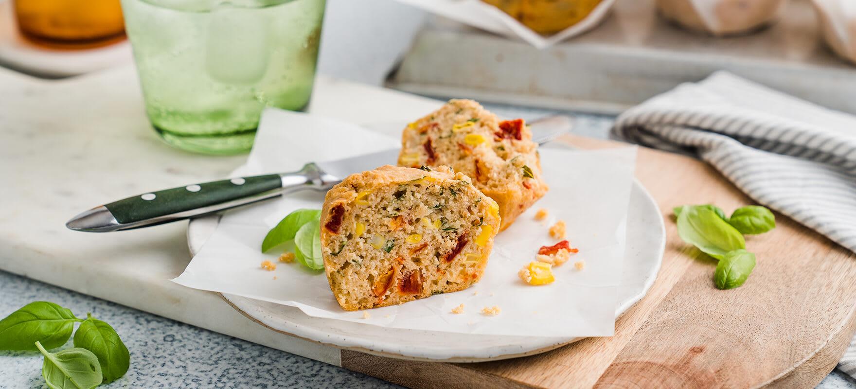Sweet corn & tomato muffins image 1