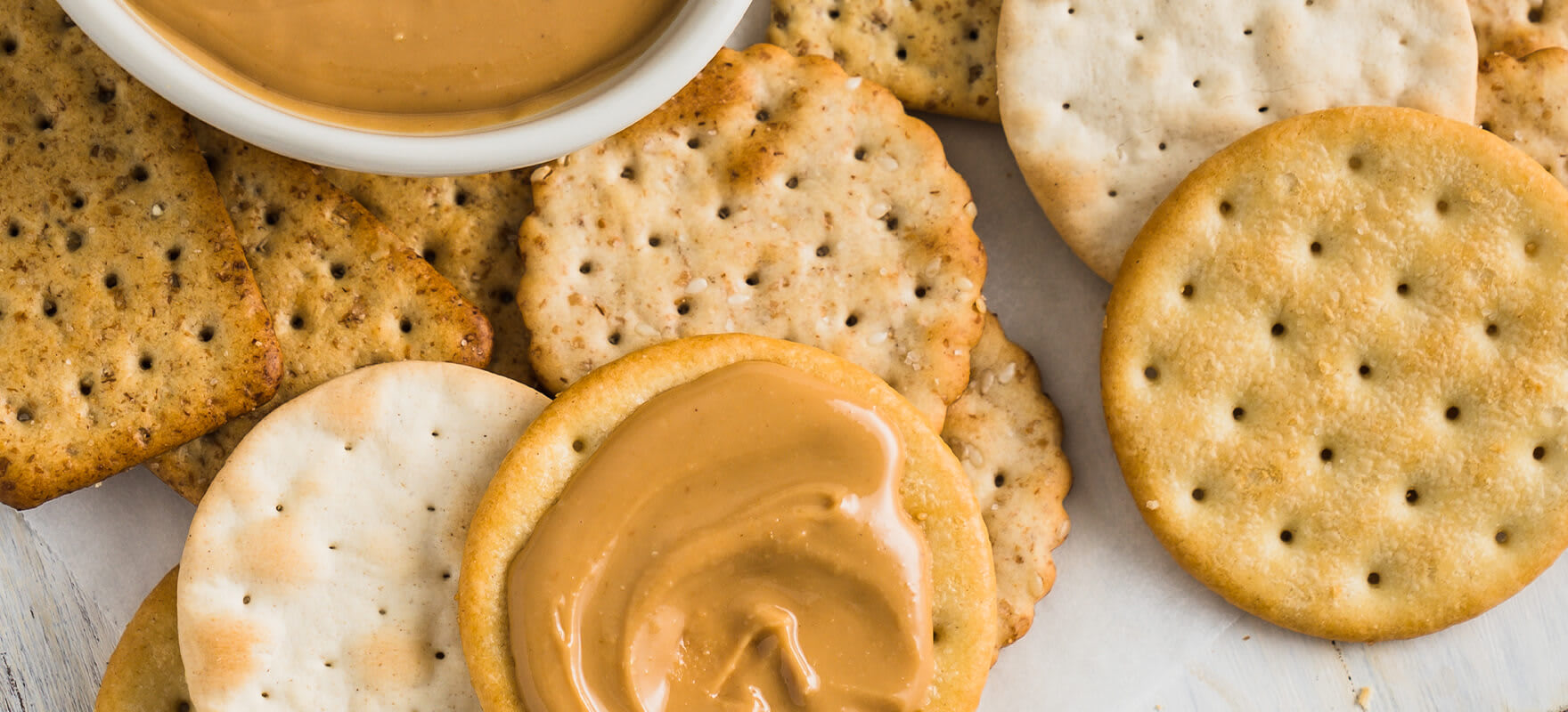Peanut butter with crackers image 2