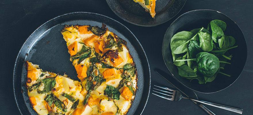 Fresh vegetable frittata image 1