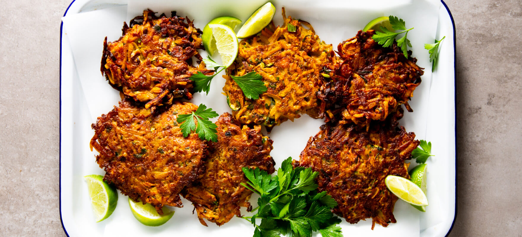 Veggie and haloumi fritters image 1