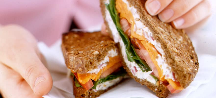 Toasted kumara ricotta and rye sandwiches image 1