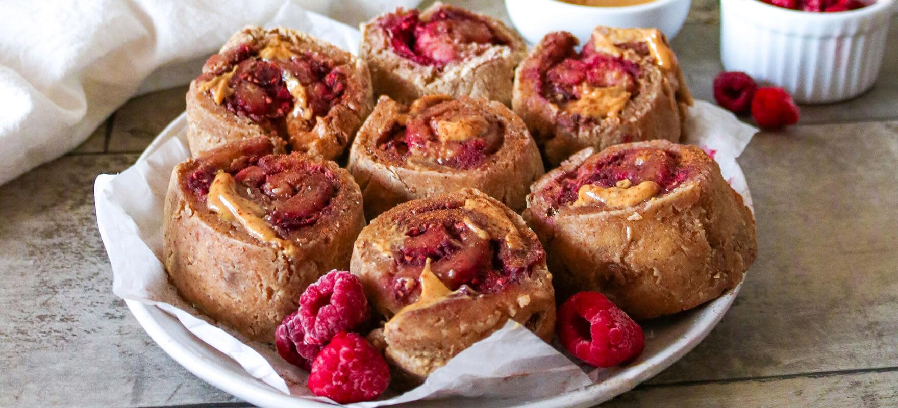 Mini gluten free peanut butter & jelly scrolls image 1