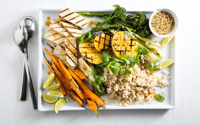 Healthy tropical food platter image 1