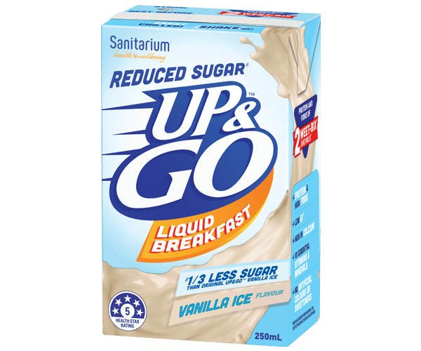 UP&GO™ Reduced Sugar# Vanilla Ice Flavour