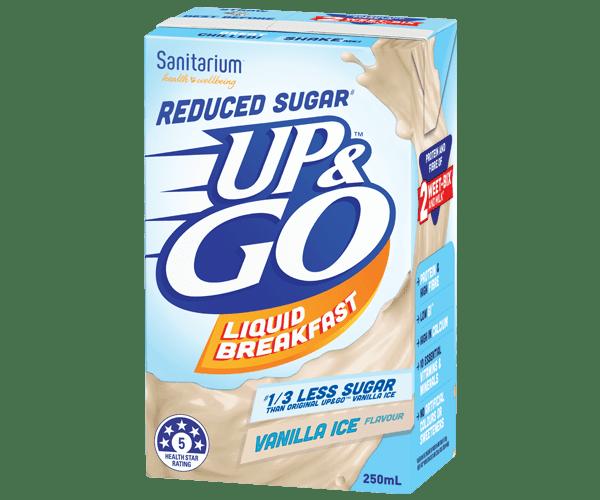 UP&GO™ Reduced Sugar# Vanilla Ice Flavour