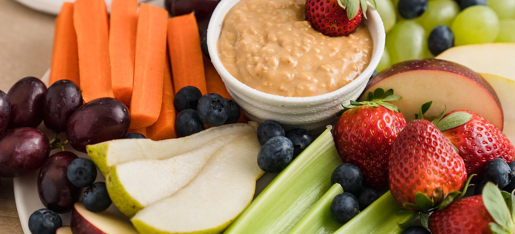 Peanut butter fruit & veggie platter image 2