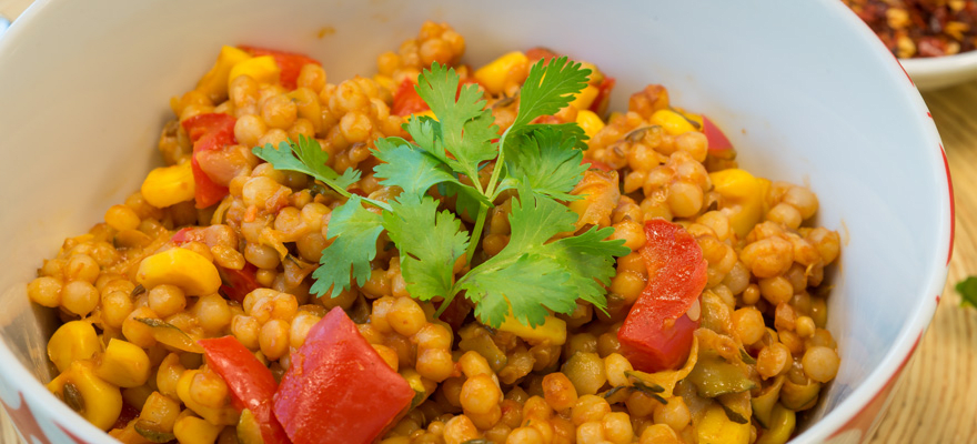 Moroccan pearl couscous pilaf image 3
