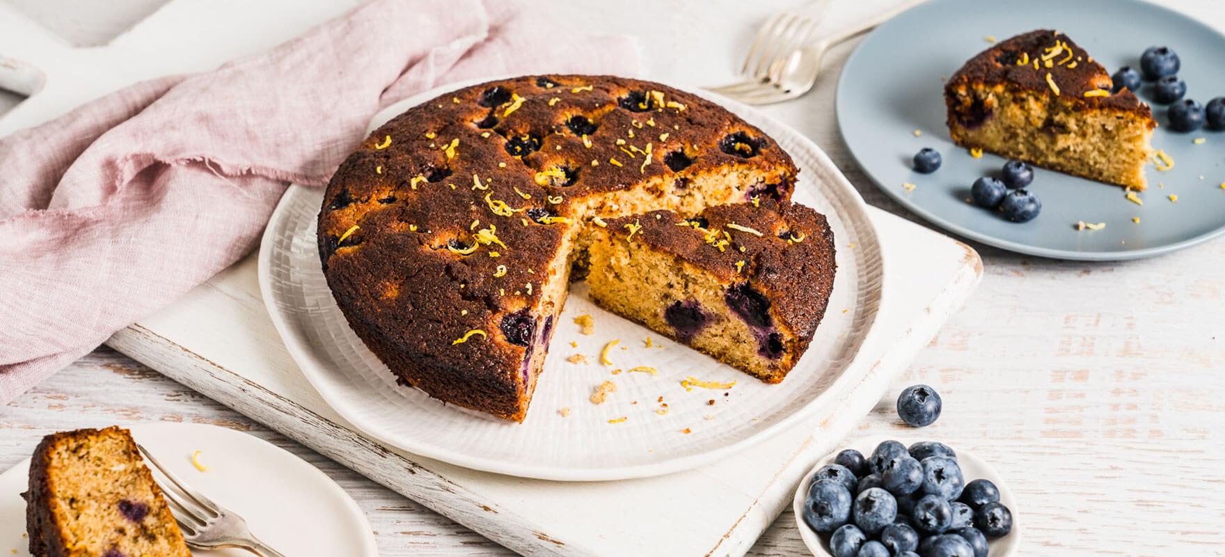 Gluten free berry yoghurt cake image 1