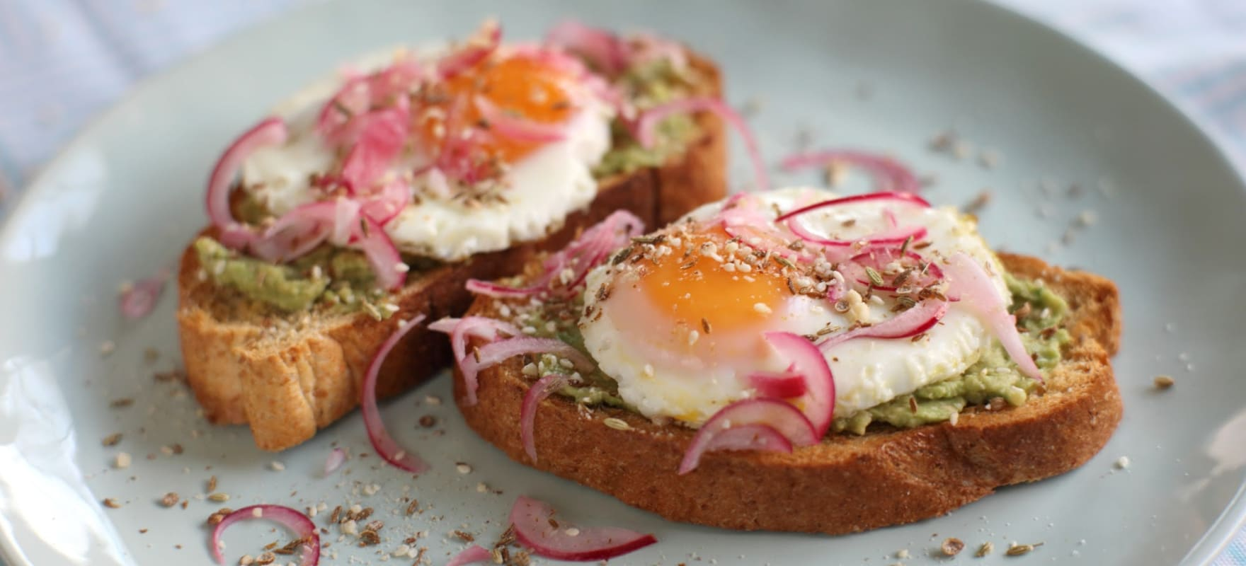 Avocado, egg and spiced dukkah on toast image 1