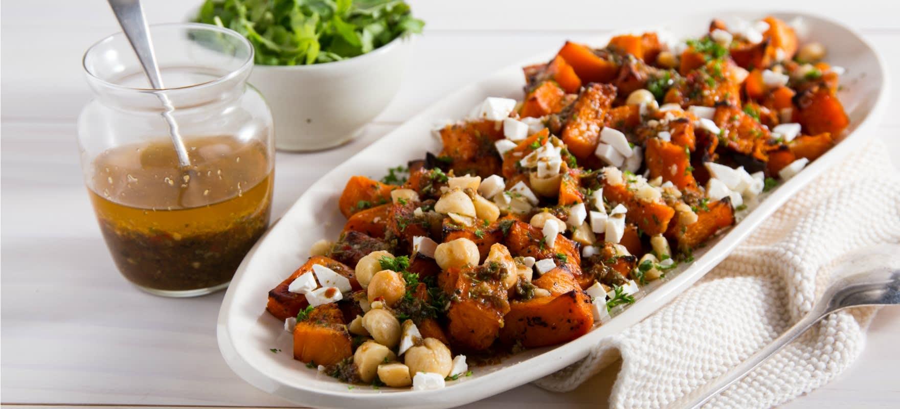 Roast pumpkin and macadamia salad image 1