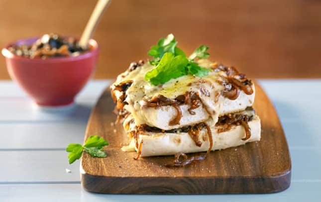 Cheesy Marmitey, oniony focaccia-y image 1