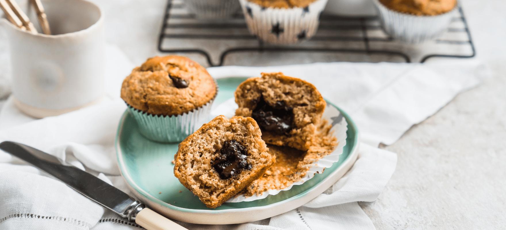 Banana chocolate muffins image 1
