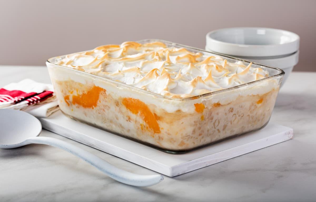 Sago and peach pudding image 1