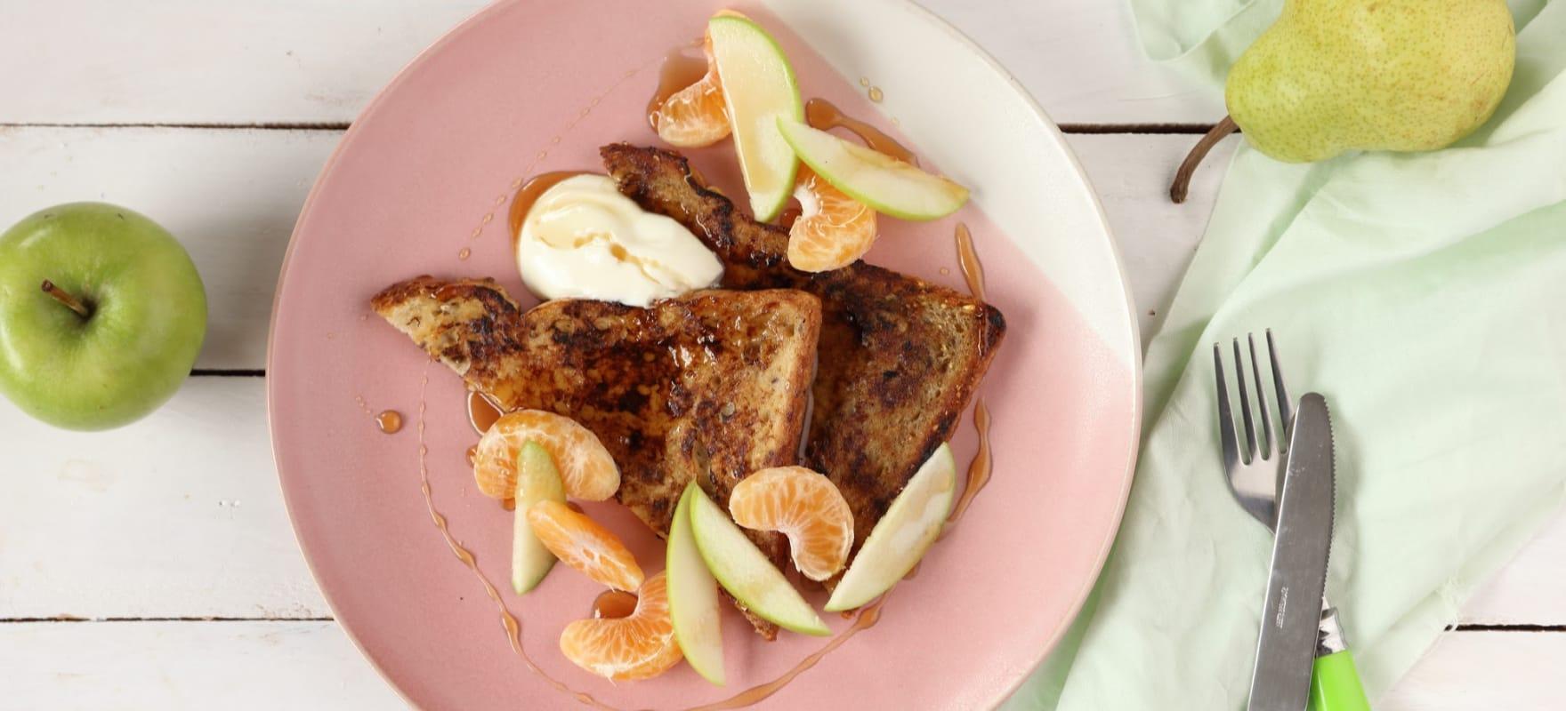 French toast with seasonal fruit image 1