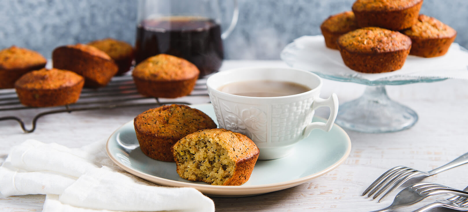 Orange & poppy seed muffins image 1