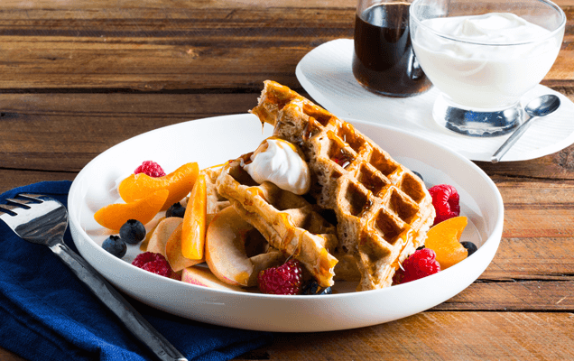 Weet-Bix waffles with fresh fruit image 1