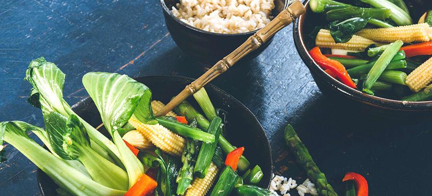Warm asian green salad image 1