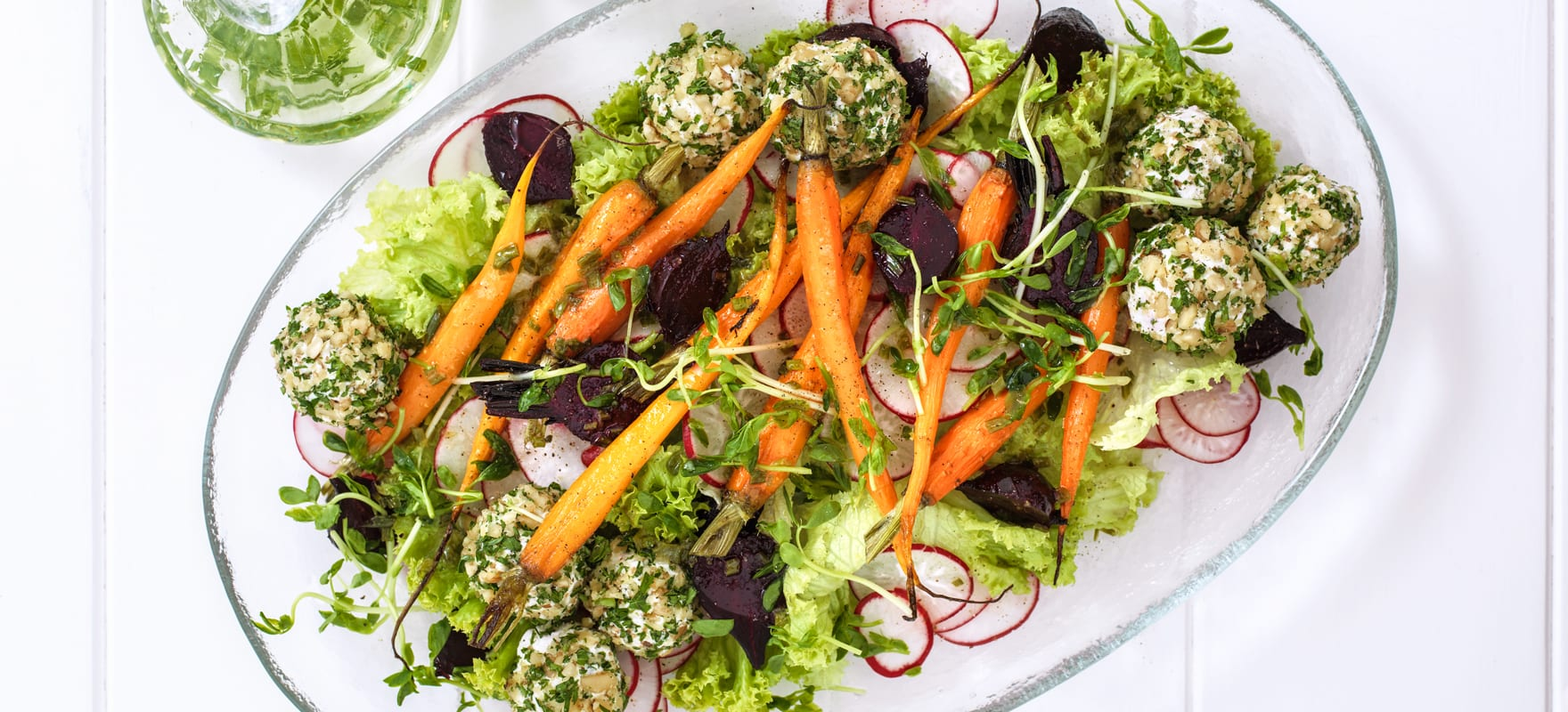 Baby carrot, beetroot & goat's cheese salad image 1