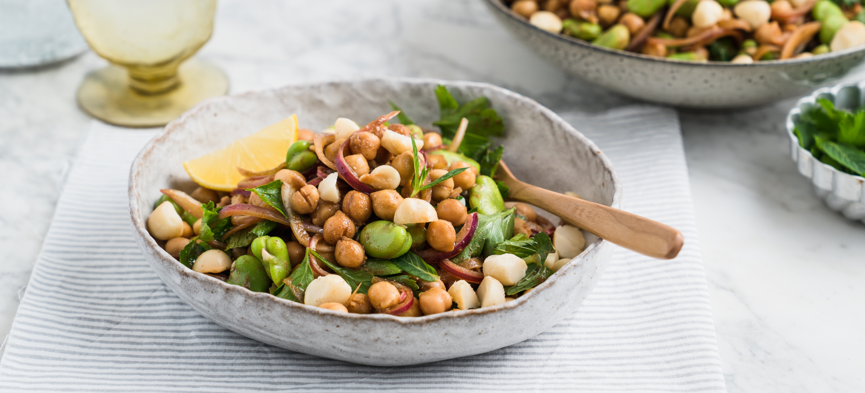 Chickpea and broad bean salad image 1
