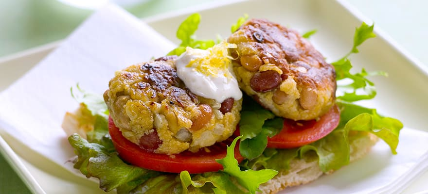 Bean burgers with salsa image 1