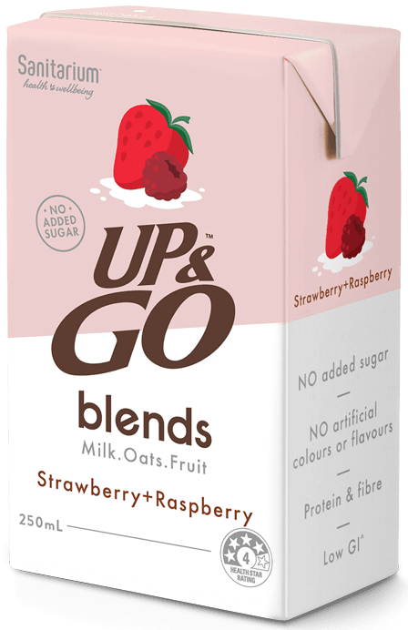 UP&GO blends Strawberry + Raspberry