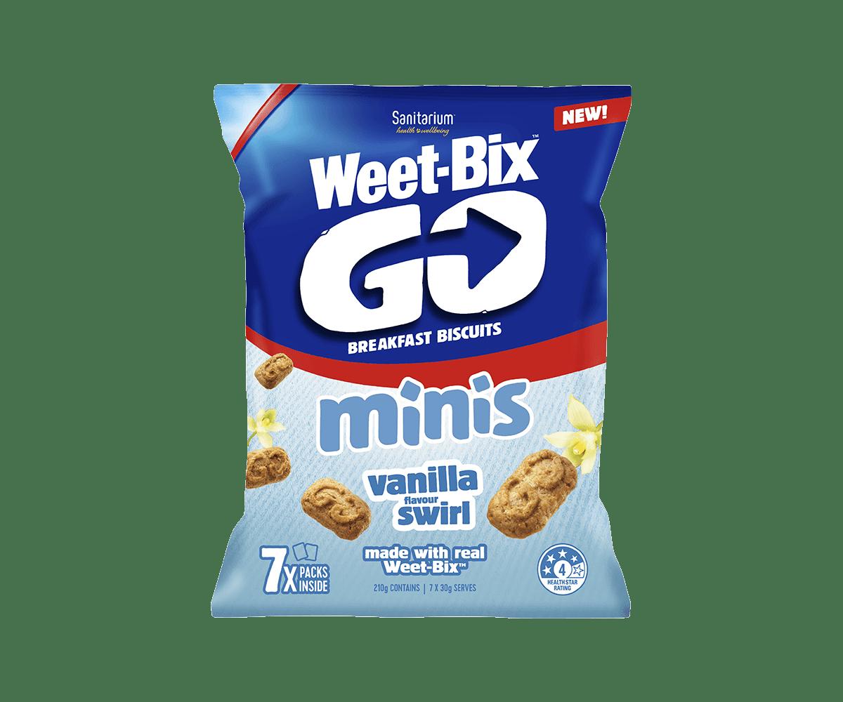 Weet-Bix GO Minis Vanilla Flavour Swirl