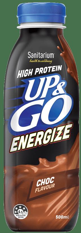 UP&GO Energize Choc Flavour Bottle