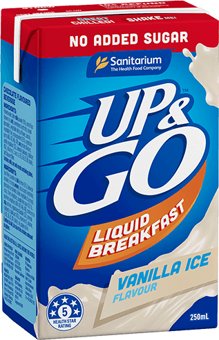 UP&GO No Added Sugar Vanilla Ice Flavour