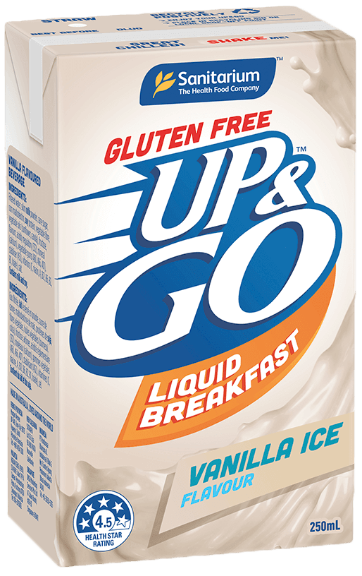 UP&GO Gluten Free Vanilla Ice Flavour