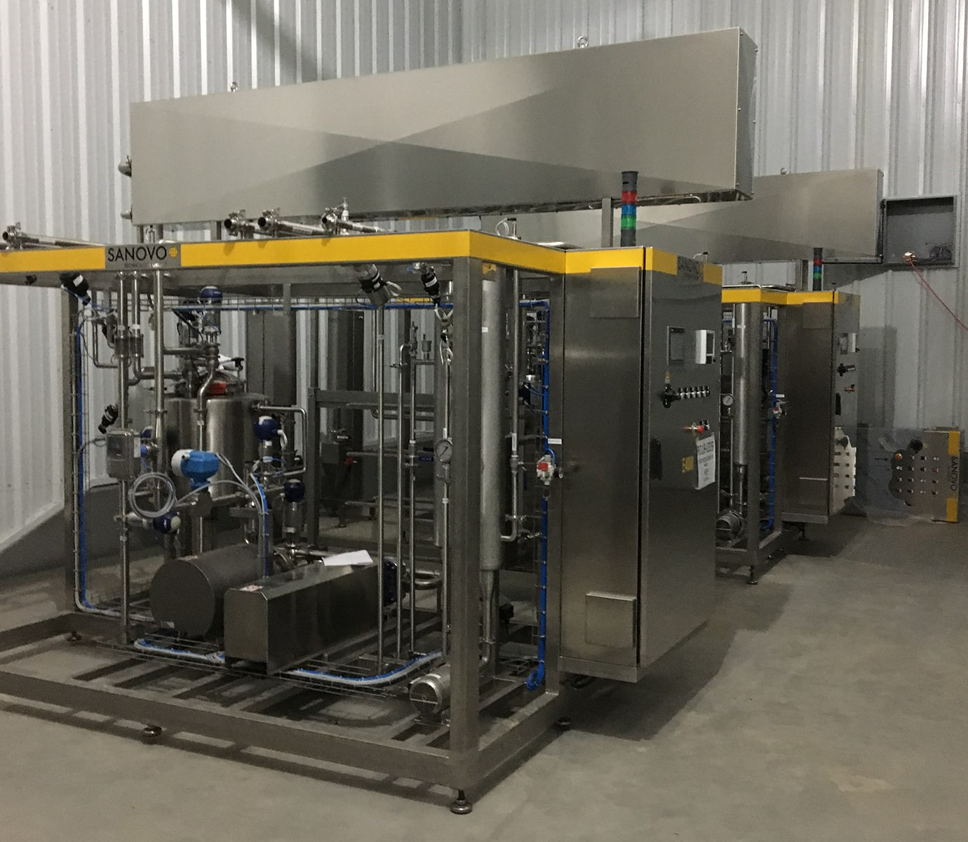 Pasteurizer for extended shelf life products