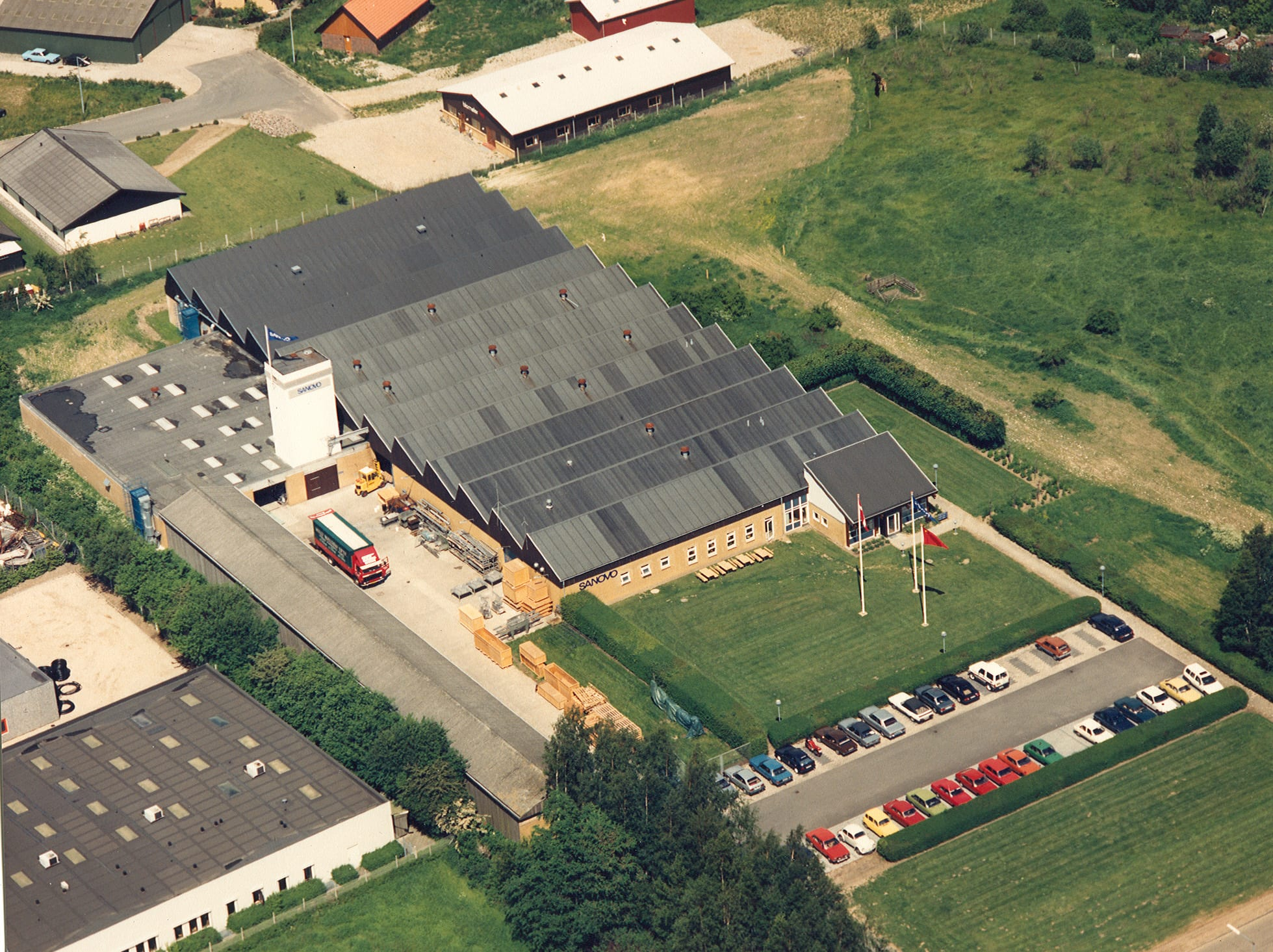Moving into the factory in Thulevej, Denmark