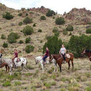 Horseback riding in Santa Fe, enjoy a sunset horseback ride from Santa Fe, New Mexico today!