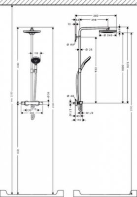 Hansgrohe Select S 240 2jet Showerpipe