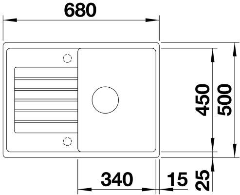 Blanco Zia 45 s compact антрацит