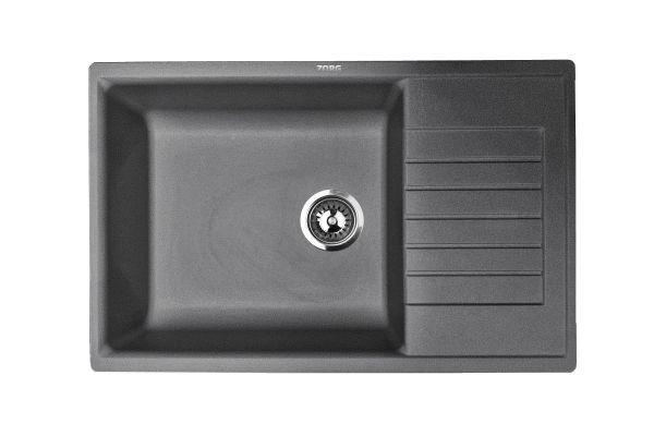 Кухонная мойка ZorG Dello 78 черный опал