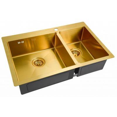 Кухонная мойка ZorG INOX -PVD SZR 78-2-51 L BRONZE
