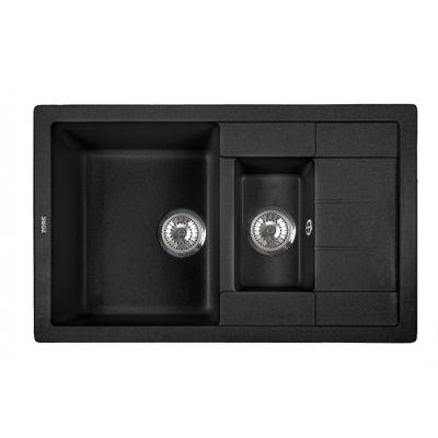 Кухонная мойка ZorG Luka 78- 2 черный опал