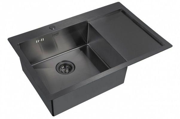 Кухонная мойка ZorG PVD 7851 L GRAFIT 3мм