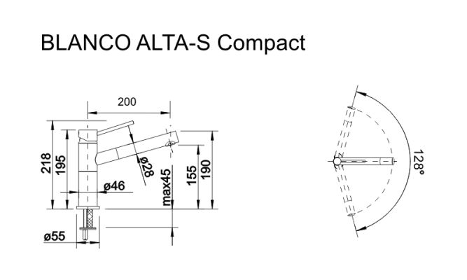 Blanco Alta-s compact шампань