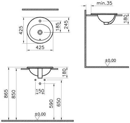 Vitra S20 45 см круглый