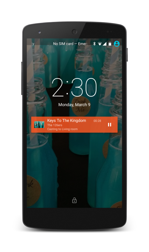 Music Player controls on Lock Screen