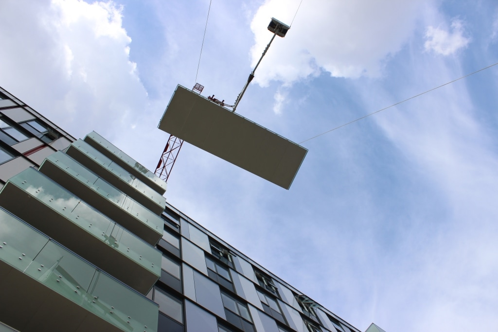 Projecting Glide-On balconies installed in London