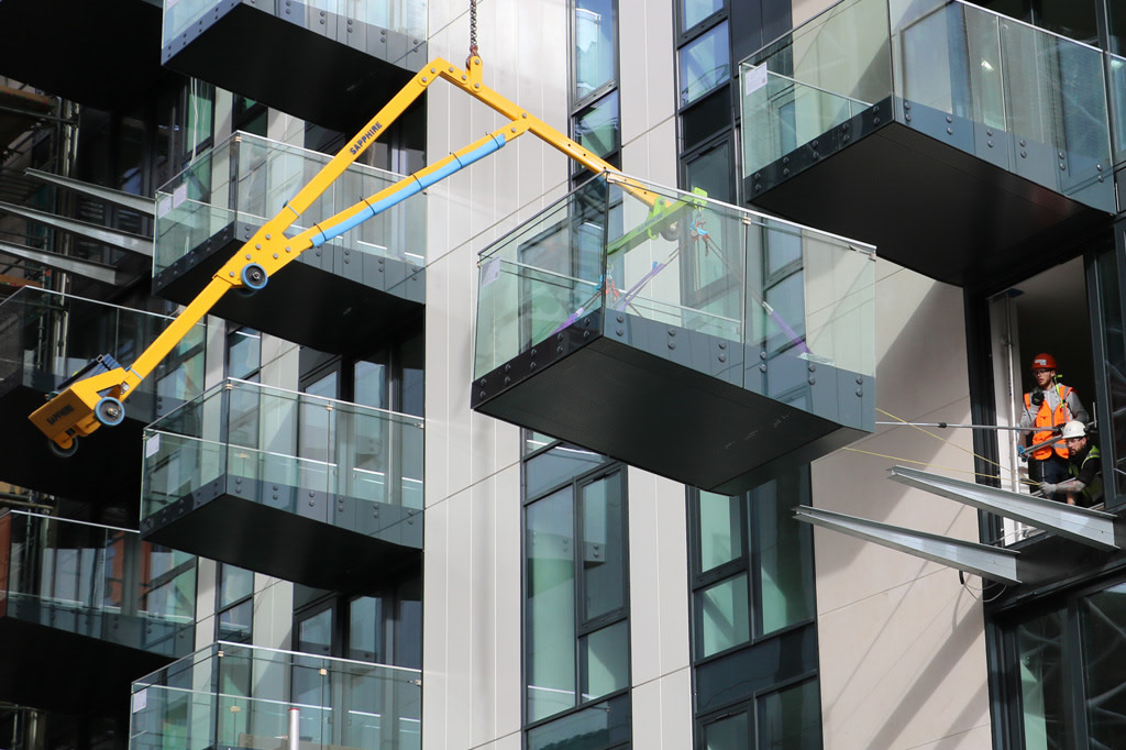 counter balance balcony equipment for safe install