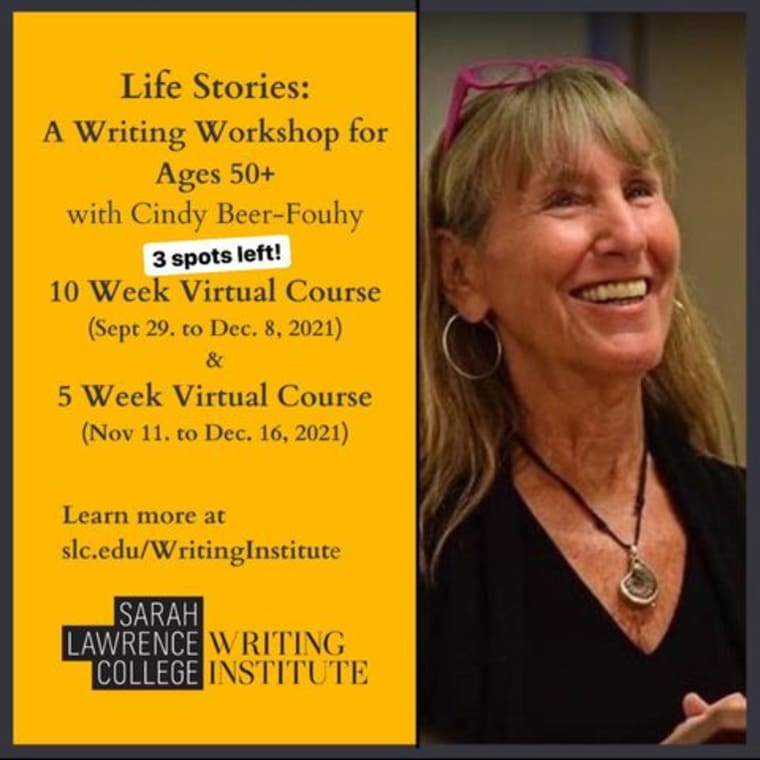 Session One classes begin soon - we've got something for everyone (virtual or on campus!) 📝 Life Stories with Cindy Beer Fouhy 🧞♀️ Magical Realism & Surrealism with @sillyserrana 🛠 Structure and Strategy with @michaelseidlinger ➿Link Your Stories or Memoirs Into A Collection with @tessasmithmcgovern ✨You Are The Expert with @vanessatakesphotos 😆 Writing With Wit with @dan.zevin 📚 Novel Writing Master Class with Caitlin Alexander ✍🏼 Short Story Workshop with Marian Thurm (on campus!) 💙 The Heart Of The Story with Joann Smith 📖 Stories That Stick with @rachelnycroo 📜 Unfurling: A Poetry Experience with Carla Carlson + more! Link in bio for more details! 🌳 #writing #sarahlawrencecollege #classes #virtual #writingworkshops #bronxville #yonkers #writingcommunity #shortstories #novel #memoir #amwriting #nanowrimoprep